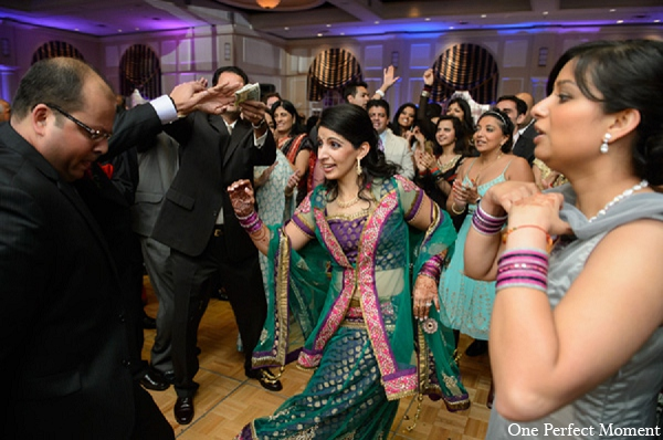 Indian wedding bride reception groom in Wilmington, Delaware Indian Wedding by One Perfect Moment
