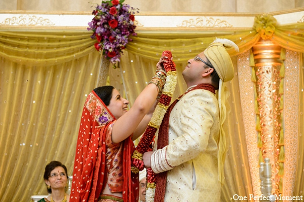 Indian wedding ceremony groom bride in Wilmington, Delaware Indian Wedding by One Perfect Moment