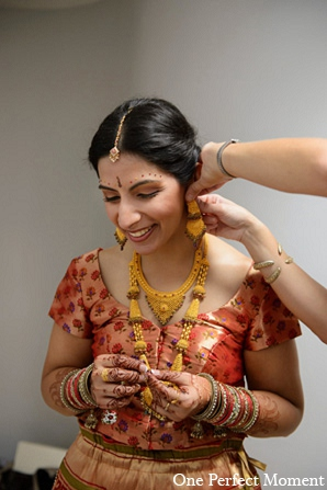 Indian wedding fashion hair makeup in Wilmington, Delaware Indian Wedding by One Perfect Moment