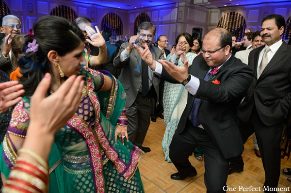 Indian wedding groom reception bride in Wilmington, Delaware Indian Wedding by One Perfect Moment