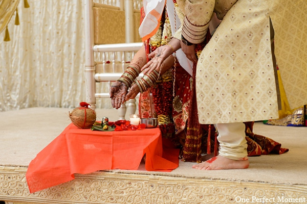 Indian wedding hindu traditional custom in Wilmington, Delaware Indian Wedding by One Perfect Moment