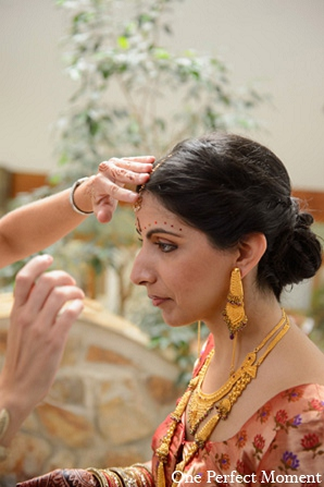 Indian wedding makeup hair jewelry in Wilmington, Delaware Indian Wedding by One Perfect Moment