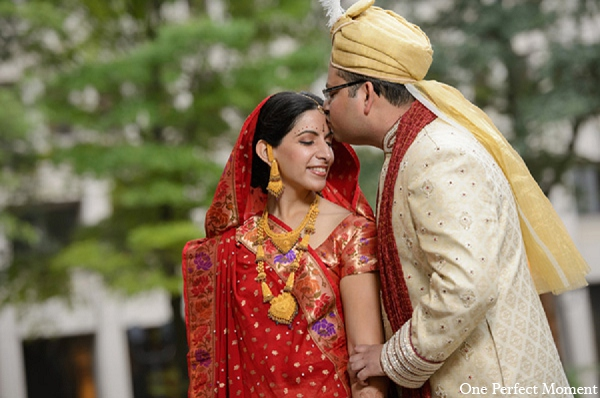 indian wedding photography bride groom portrait