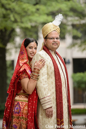 Indian wedding photography groom bride in Wilmington, Delaware Indian Wedding by One Perfect Moment