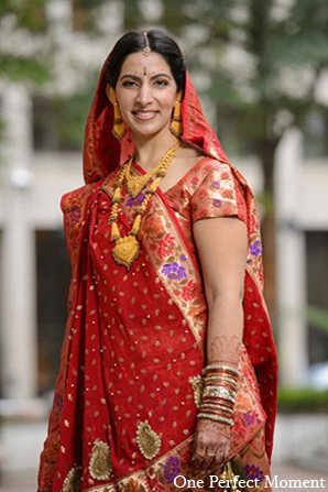 Indian wedding portraits bridal fashion in Wilmington, Delaware Indian Wedding by One Perfect Moment