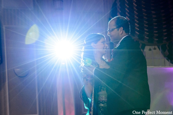 Indian wedding reception bride groom lighting in Wilmington, Delaware Indian Wedding by One Perfect Moment