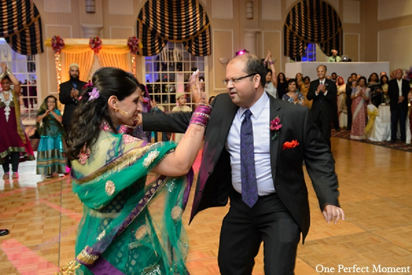 Indian wedding reception bride groom in Wilmington, Delaware Indian Wedding by One Perfect Moment