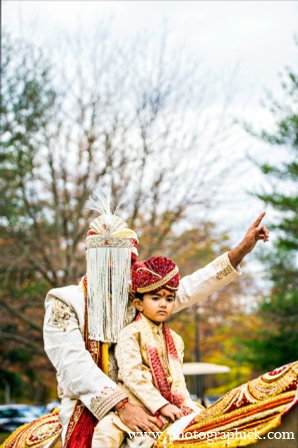 Indian wedding baraat in Chantilly, VA Indian Wedding by Photographick Studios