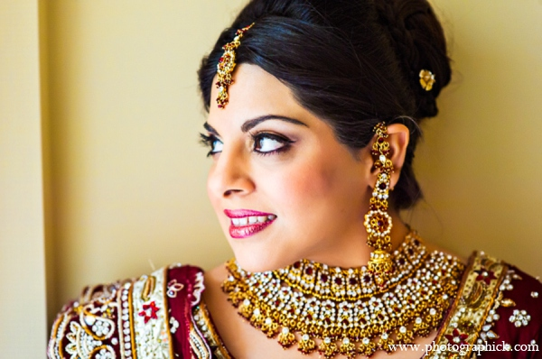 Indian wedding bridal jewelry in Chantilly, VA Indian Wedding by Photographick Studios
