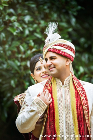 Indian wedding bride groom photos in Chantilly, VA Indian Wedding by Photographick Studios