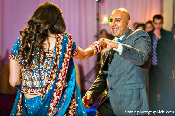 Indian wedding bride reception in Chantilly, VA Indian Wedding by Photographick Studios