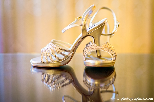 Indian wedding bride shoes in Chantilly, VA Indian Wedding by Photographick Studios