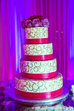 Indian wedding cake in Chantilly, VA Indian Wedding by Photographick Studios
