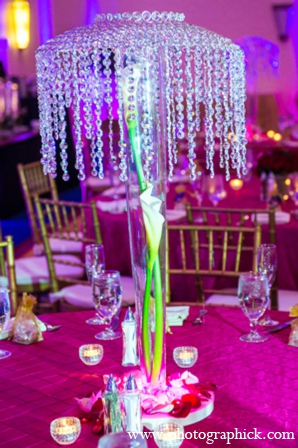 Indian wedding lighting centerpiece in Chantilly, VA Indian Wedding by Photographick Studios