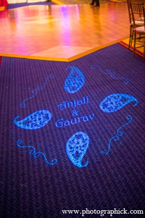 Indian wedding lighting decal in Chantilly, VA Indian Wedding by Photographick Studios