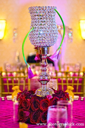 Indian wedding modern floral in Chantilly, VA Indian Wedding by Photographick Studios