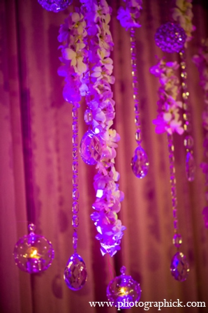 Indian wedding reception floral lighting in Chantilly, VA Indian Wedding by Photographick Studios