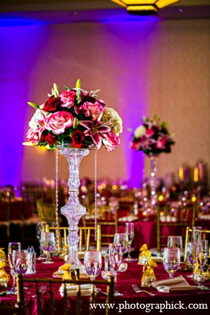 Indian wedding reception floral in Chantilly, VA Indian Wedding by Photographick Studios
