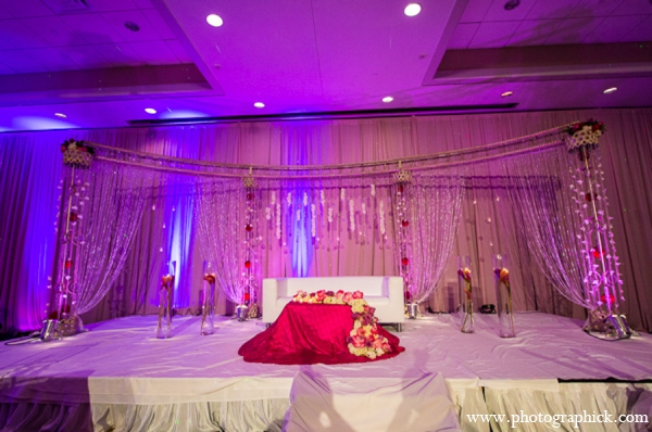 Indian wedding reception stage in Chantilly, VA Indian Wedding by Photographick Studios