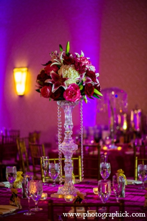 Wedding reception design in Chantilly, VA Indian Wedding by Photographick Studios