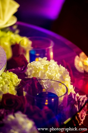 Wedding reception floral in Chantilly, VA Indian Wedding by Photographick Studios