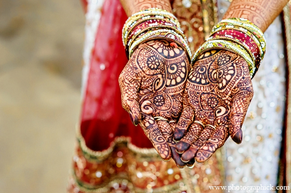 Indian wedding bridal mehndi fashion in Washington, DC Indian Wedding by Photographick Studios