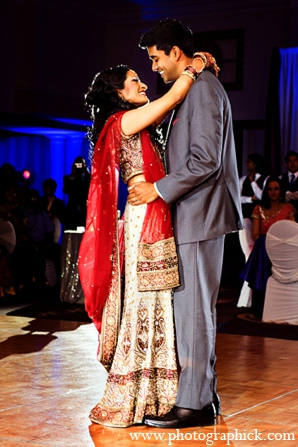 Indian wedding bride groom first dance in Washington, DC Indian Wedding by Photographick Studios