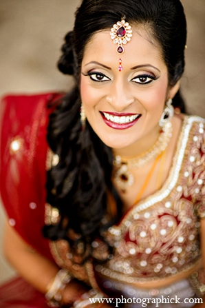 Indian wedding bride makeup fashion in Washington, DC Indian Wedding by Photographick Studios
