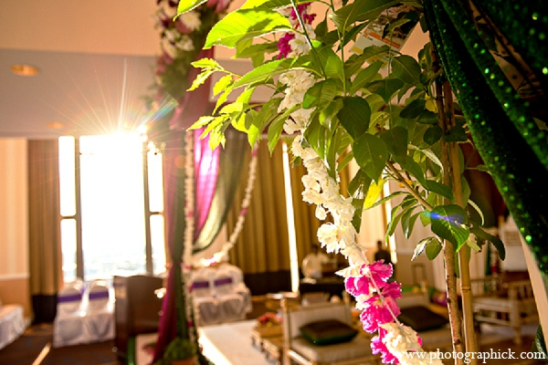 Indian wedding hindu mandap green in Washington, DC Indian Wedding by Photographick Studios
