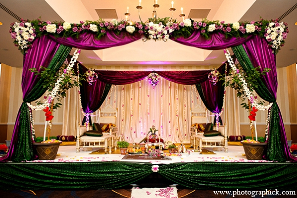 Indian wedding mandap hindu ceremony in Washington, DC Indian Wedding by Photographick Studios