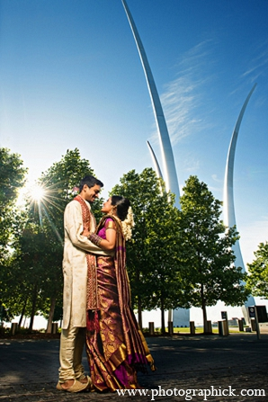 Indian wedding portraits venue bride groom in Washington, DC Indian Wedding by Photographick Studios