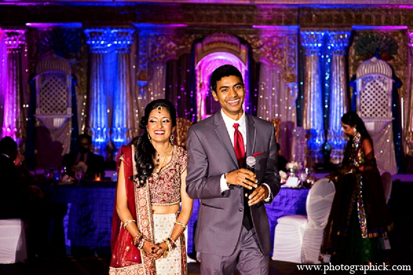 Indian wedding reception bride groom in Washington, DC Indian Wedding by Photographick Studios