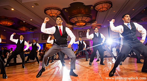 Indian wedding reception groom performance in Washington, DC Indian Wedding by Photographick Studios