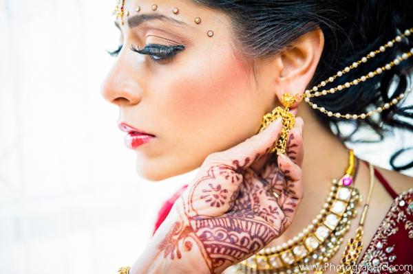 Indian-wedding-bridal-beauty-portrait-henna-gold