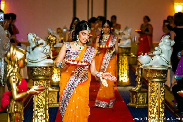 Indian-wedding-bridal-party-down-aisle