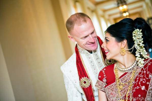 Indian-wedding-bride-groom-first-look-fusion