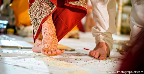 Indian-wedding-ceremony-bride-groom-feet