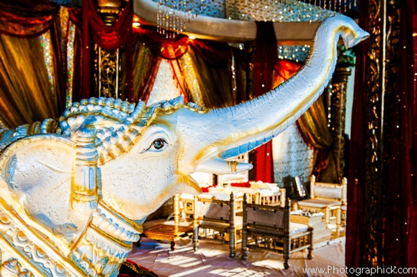 Indian-wedding-ceremony-decor-elephant-statue