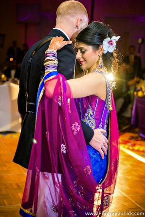Indian-wedding-couple-fusion-reception-first-dance