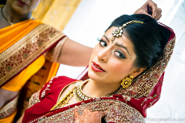 Indian-wedding-portrait-bride-getting-dressed
