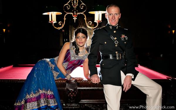Indian-wedding-reception-bride-groom-portrait-fusion