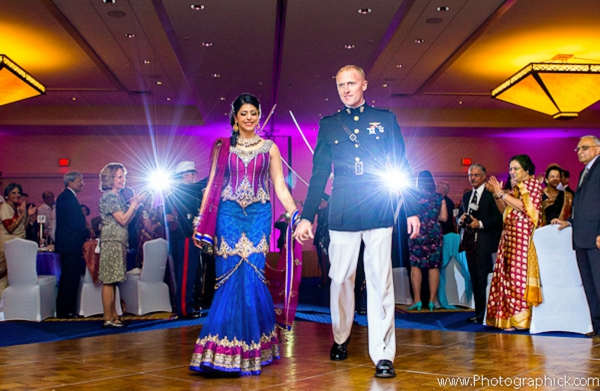 Indian-wedding-reception-couple-enters-fusion