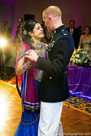Indian-wedding-reception-fusion-couple-first-dance