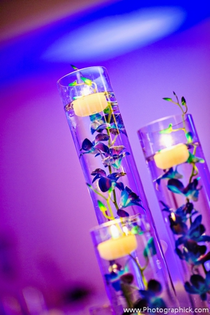 Indian-wedding-reception-lighting-candles-floral