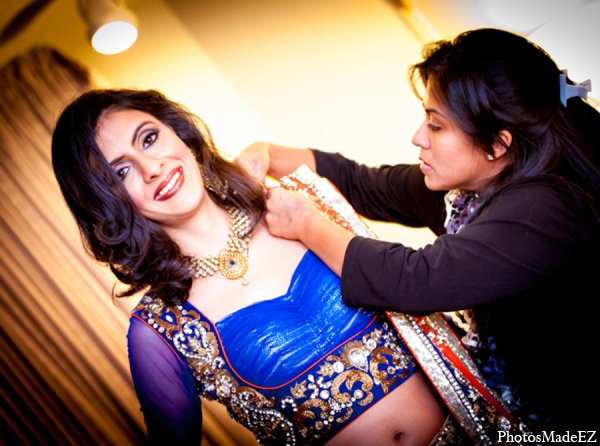 Indian wedding bridal fashion blue