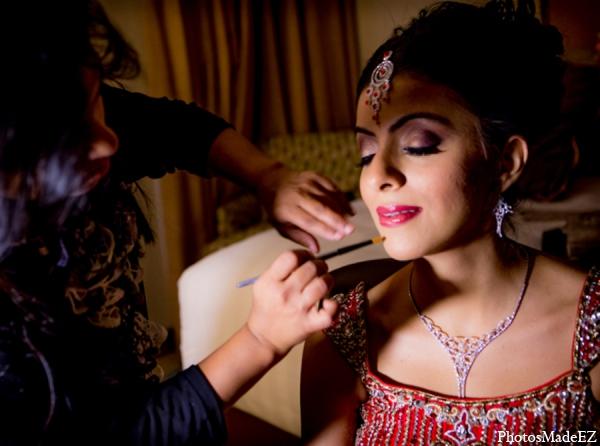 Indian wedding bridal hair makeup