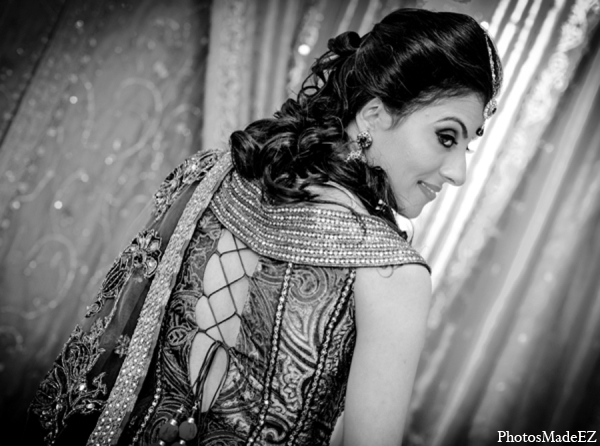 Indian wedding bride lengha detail