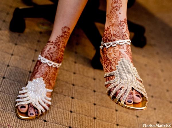Indian wedding bride mehndi shoe sandal