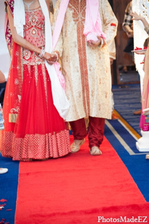 Indian wedding ceremony tradition red