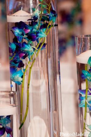 Indian wedding floral decor blue